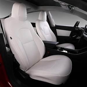 Tesla model 3 white seat covers by Bomeilai – Tesla Model 3 Wiki