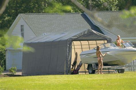 portable garage tent shelterlogic 12 x 24 x 10 peak style portable garage