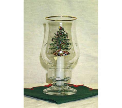 spode christmas tree glass hurricane lamp withcandle qvccom