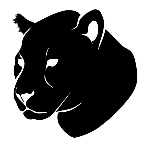 Black, Jaguar, Head, Face, Silhouette, Lion, PNG ...