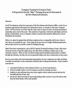 10 sample training proposal letters sample templates With free sample proposal letter for training services