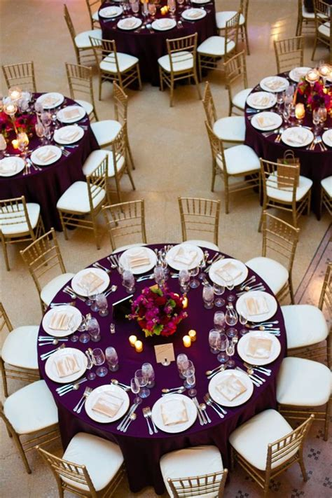 35 dark purple wedding color ideas for fall winter