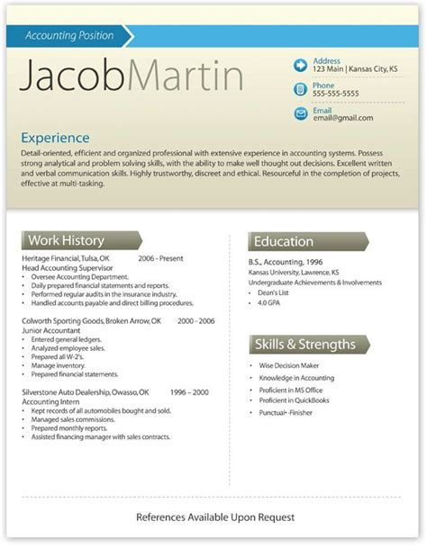 Resume Template Modern by Modern Resume Template Modern R 233 Sum 233 Ideas Resume