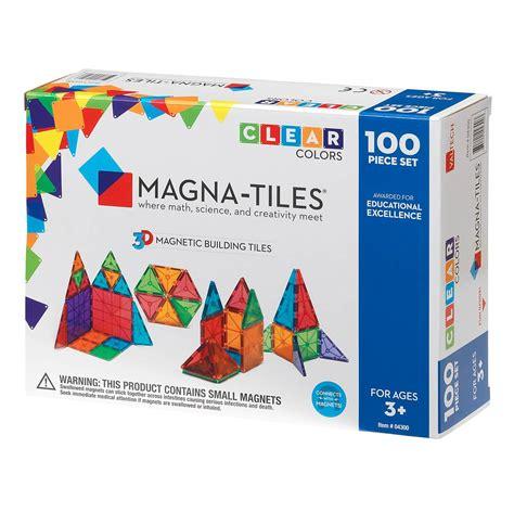 magna tiles 174 clear colors 100 set magna tiles 174