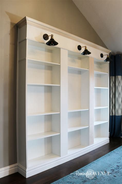 bookcases that look like built ins ikea billy bookcase library hack remington avenue