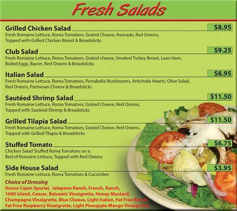 Demitasse Café Menu - Salads | Houma, LA