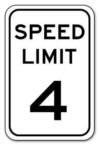"SPEED LIMIT 4 12""x18"" .040 Aluminum Sign - Customizable | eBay"