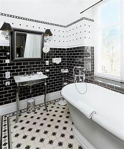 Fliesen Schwarz Weiß : black and white bathrooms design ideas decor and accessories ~ A.2002-acura-tl-radio.info Haus und Dekorationen