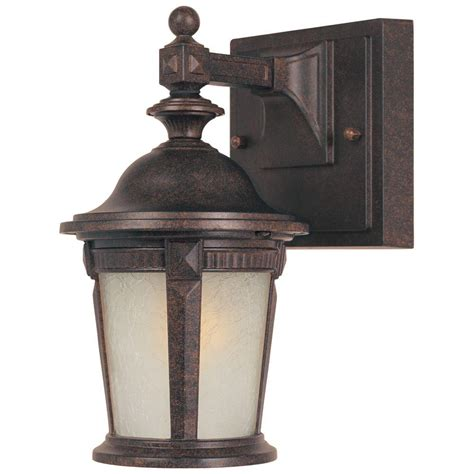 hton bay mystic bronze outdoor wall mount lantern
