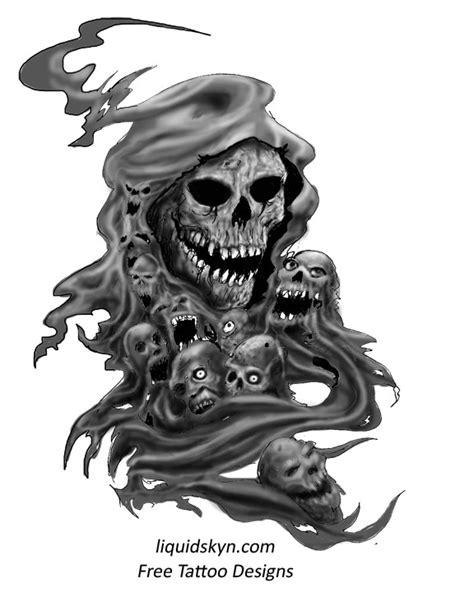Pin by rob gil on Tats | Reaper tattoo, Grim reaper tattoo, Evil skull tattoo