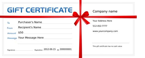 Personal Trainer Gift Certificate Template Personal Gift Certificate Template
