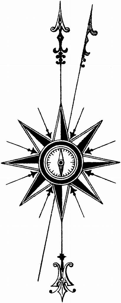 Compass Tattoo Rose Transparent Map Arrow Steampunk