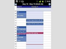 android Calendar Activity for week view and day view