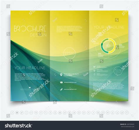 Abstract Colorful Brochure Design Template Vector Tri Fold Vector Modern Trifold Brochure Design Template Stock