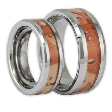 his and hers desert camo tungsten ring camouflage wedding bands by ring