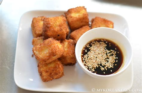 Dubu Twigim Breaded Tofu Cubes Follow The Foodie