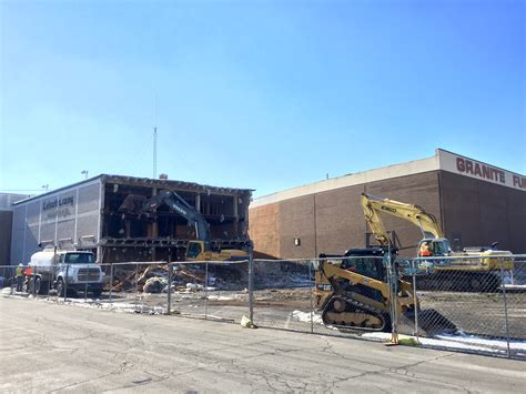 demo work begins on warehouse building building salt