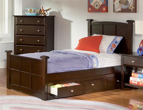 youth bedroom furniture jasper cappuccino panel storage youth bedroom set