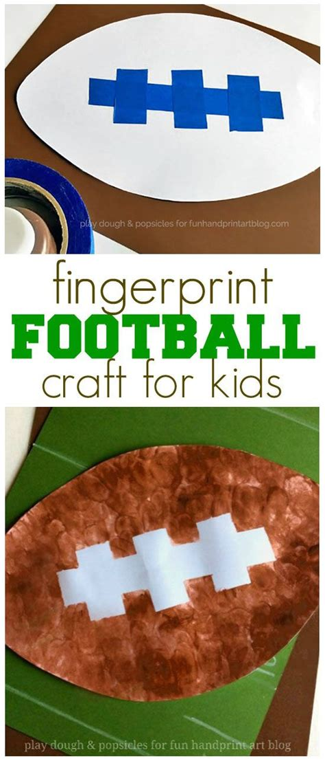 fingerprint football craft bowl sports 334 | 69b72d67f307c79677183a92a6a65225 sports crafts preschool kid crafts