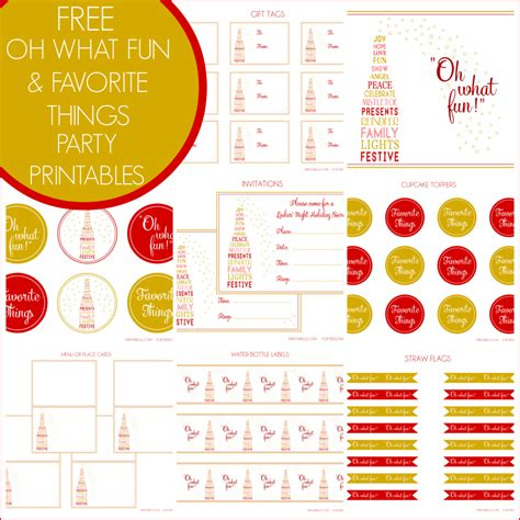 Free Oh What Fun And Favorite Things Holiday Party Printables From Printabelle  Catch My Party