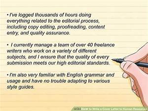 Wikihow Cover Letter How To Write A Cover Letter To Human Resources With
