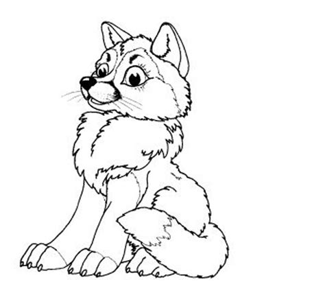 baby wolf coloring pages  print coloring home