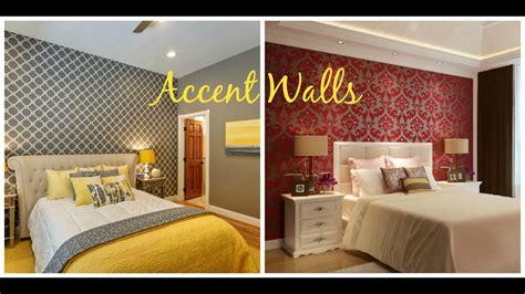 bedroom wallpaper accent walls home decor ideas youtube