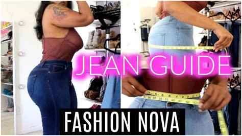 fashion nova jean   haul  sizing jeans  size curvy youtube