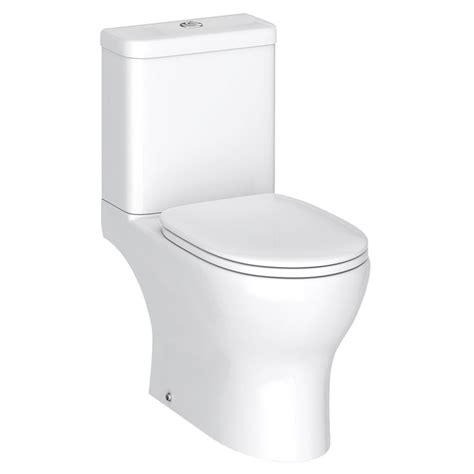 elite rimless close coupled toilet soft close seat