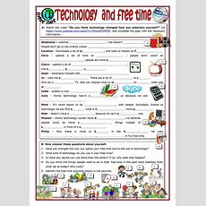 Technology And Free Time Worksheet  Free Esl Printable Worksheets Made By Teachers