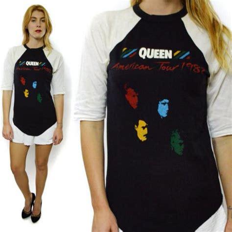 queen shirt tour 1982 jersey 80s raglan american sleeve sz