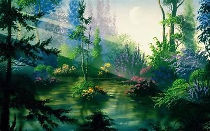 Mythical Landscape Forest Fantasy Landscapes Background Nature