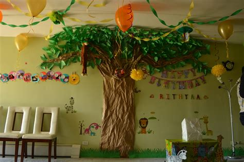 Decorating Themes : Jungle Theme Birthday Decoration Ideas