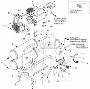 Campbell Hausfeld Wl505812 Parts Diagram For Air
