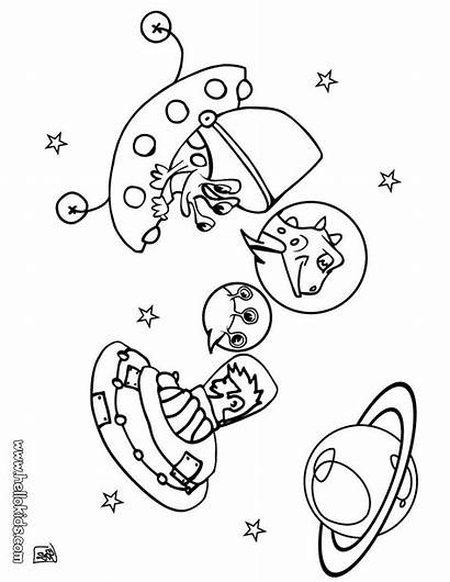Coloring Pages Galaxy Mars Space Milky Way