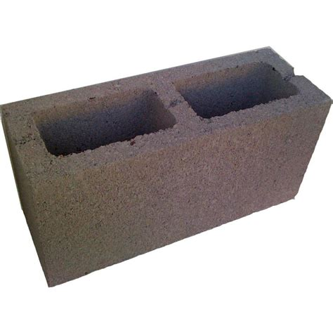 decorative cinder blocks home depot shop normal weight concrete block common 6 in x 8 in x