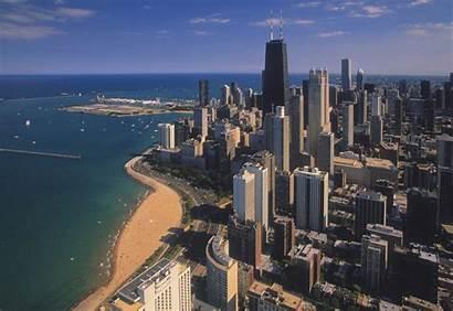Chicago Wallpapers Street Praias Michigan Lake Oak