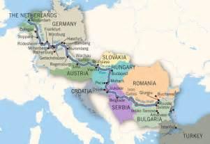 Rhine Danube River Map