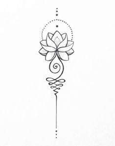 Image result for unalome lotus flower meaning | Tattoos, Lotus tattoo, Tattoo designs