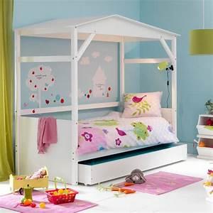 Lit Cabane Avec Tiroir : chambre d 39 enfant les plus jolies chambres de petites filles ce lit cabane avec tiroir de ~ Teatrodelosmanantiales.com Idées de Décoration