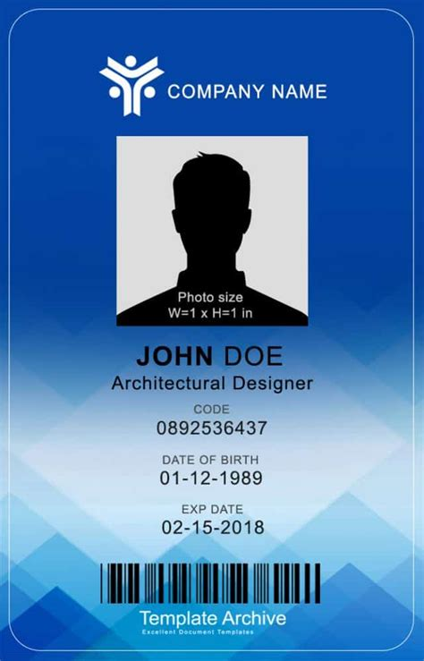 vertical id id card templateid card template business