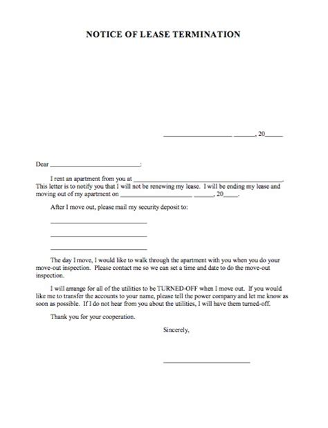 Notice To End Tenancy Template by 45 Eviction Notice Templates Lease Termination Letters