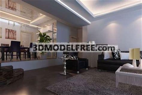 modern style living room  model downloadfree  models
