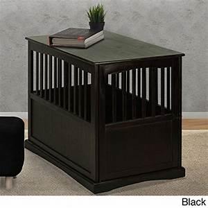 wooden furniture pet crate color black large black by With black dog crate furniture