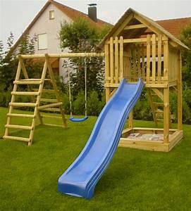 Spielhaus Garten Mit Rutsche : spielturm tom aus holz rutsche schaukel sandkasten ~ Watch28wear.com Haus und Dekorationen