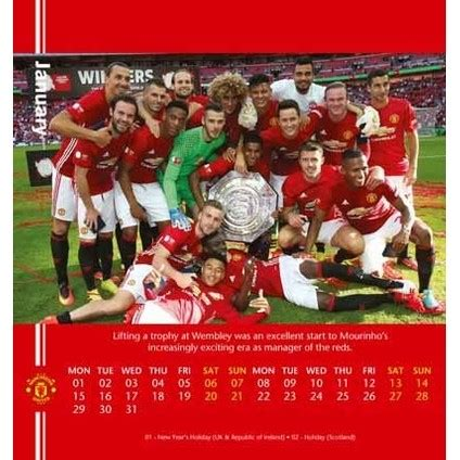 desk easel calendar manchester united calendars