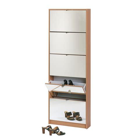 meuble a chaussures avec miroir meuble 224 chaussures avec miroir nobody h 234 tre home24 fr