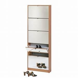 meuble a chaussures avec miroir nobody hetre home24fr With charming meuble a chaussure avec miroir 1 meuble chaussures facade miroir