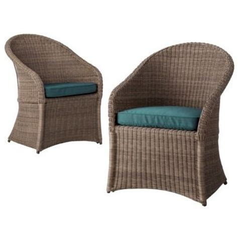 Target Outdoor Dining Chair Cushions by Threshold Holden 2 Wicker Patio Dining Chair Set In