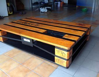 table basse palette industrielle table basse industrielle palette avec chargeur usb
